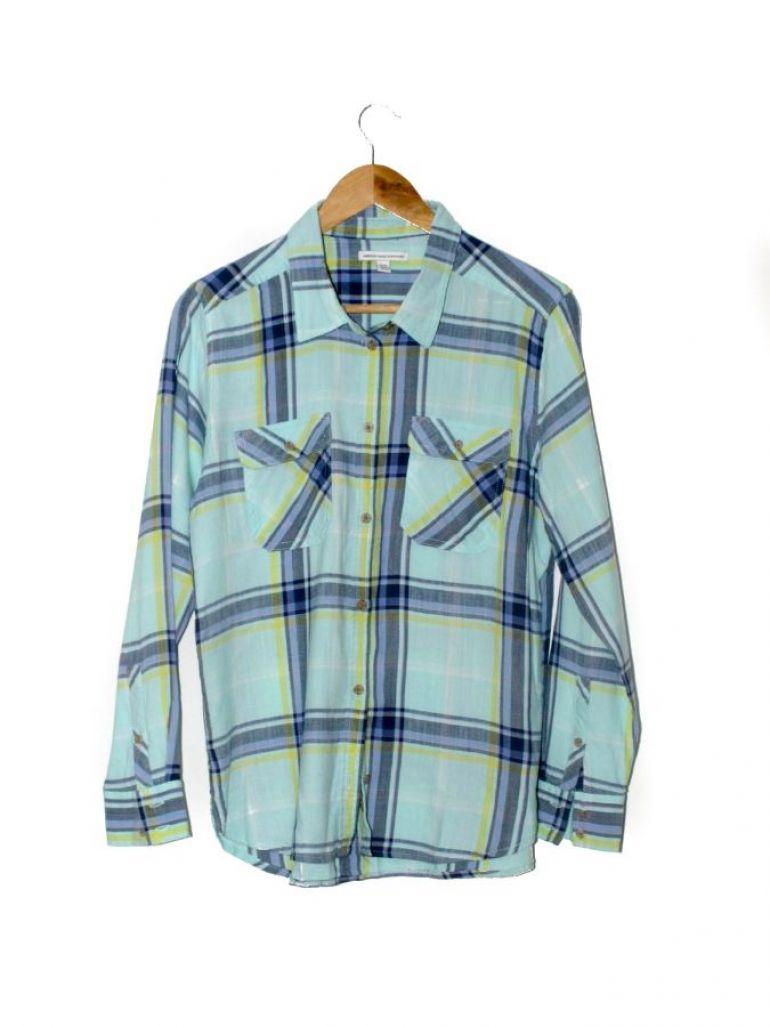 Camisa de cuadros manga larga