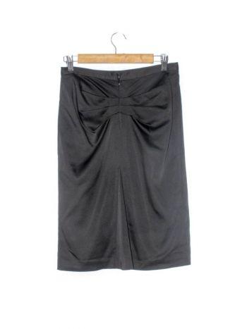 Falda a la cintura con drapeado