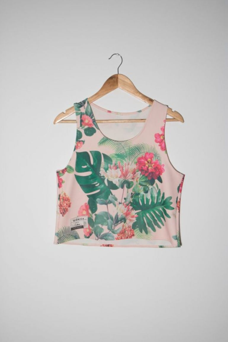 Crop top estampado floral